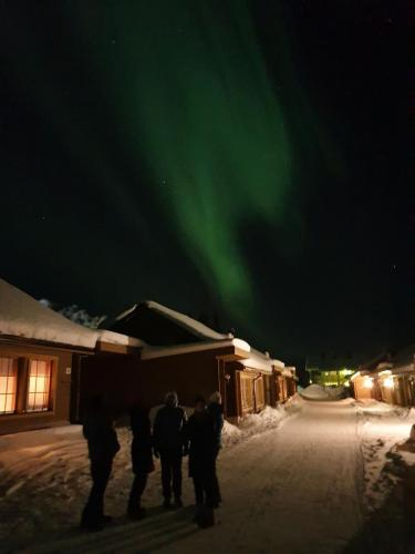 Northen lights above the Armas Cabins