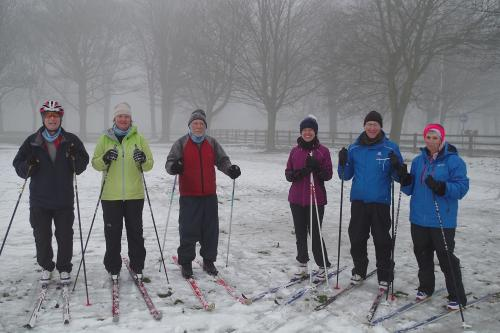 On snow skiing in UK 2018